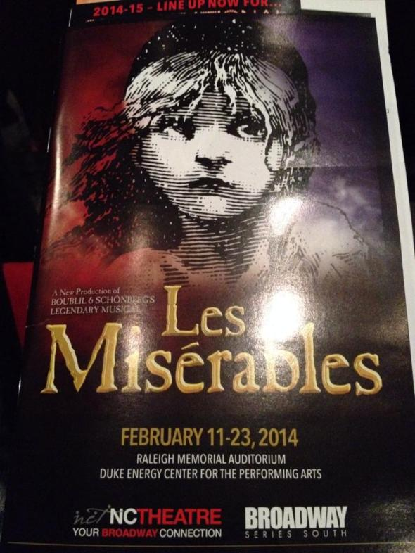 Les Miserables came through Raleigh and I got to see it!