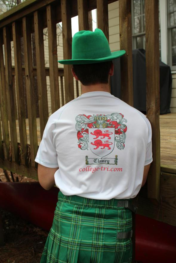 Me in my kilt and the Clancy family crest on my back. Also my triathlon website which I really don't update any more.